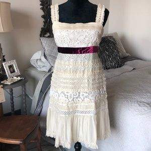 Auth Louis Vuitton Gorgeous Lace Sequins Dress